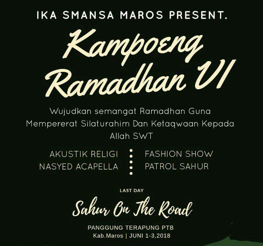 Poster Ramadhan Hebat Ika Smansa Maros Gelar Kampoeng Ramadhan Vi Trotoar Id