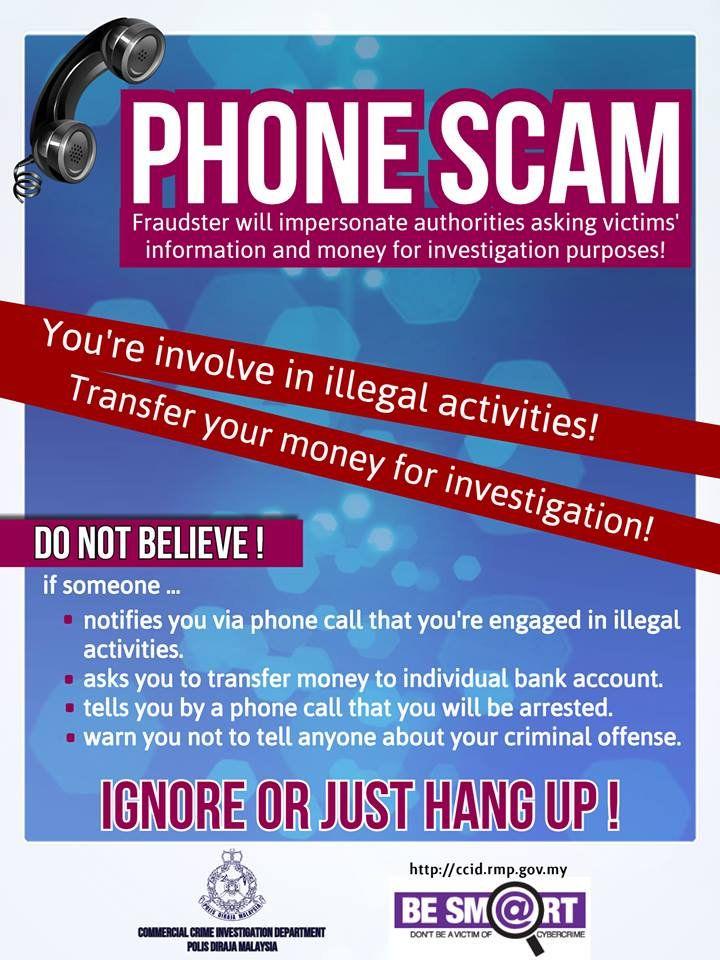 jomberingat phone scam ignore or just hang up scamalert janganterpedaya jabatanpenerangan sayangimalaysiaku solidarity4peace sumber cyber crime