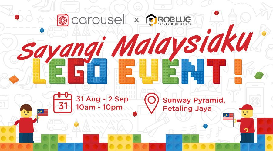 carousell s sayangi malaysiaku lego art exhibition in conjunction with merdeka