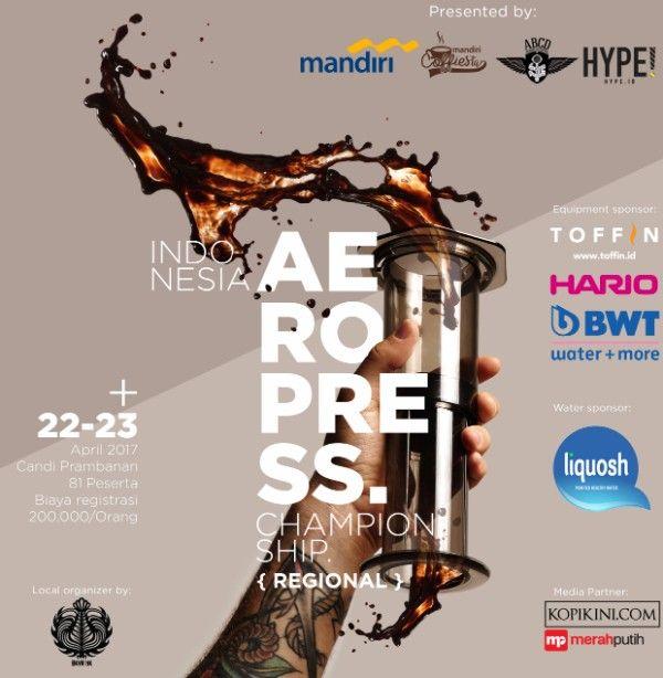 Poster Sederhana Hebat Rilis Pers Indonesia Aeropress Championship Merahputih