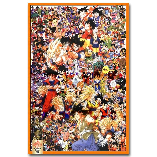 Poster Sederhana Terbaik Nicoleshenting Dragon Ball Z Semua Karakter Art Silk Poster 13x20