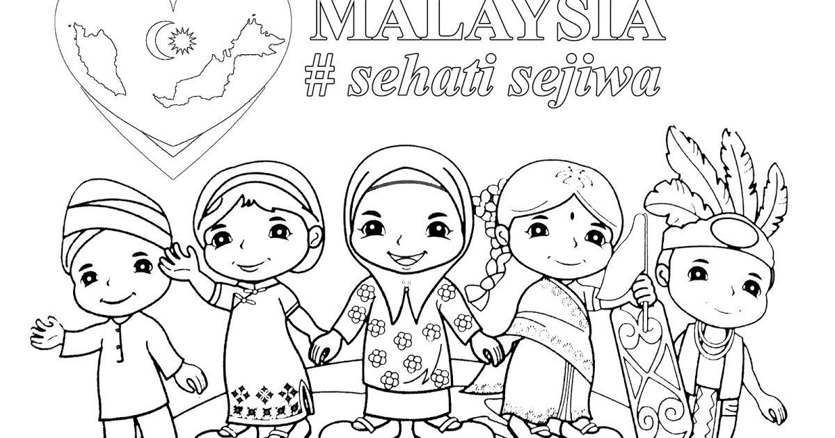 Poster Sehati Sejiwa Terbaik Poster Mewarna Malaysia Sehati Sejiwa Gambar Mewarna
