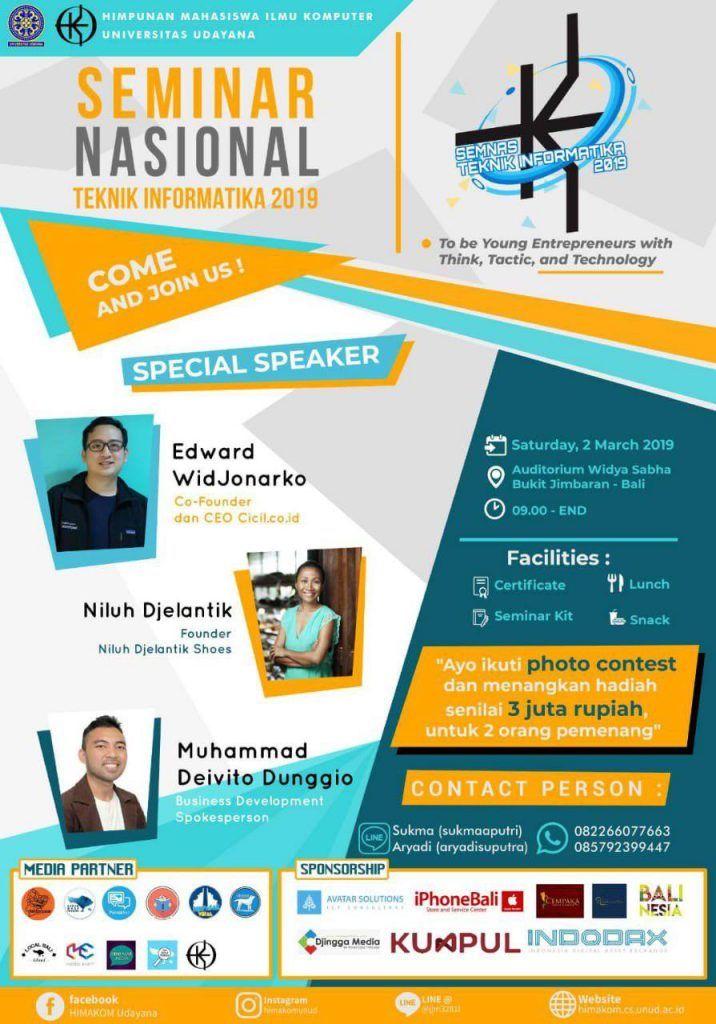 Poster Seminar Nasional Bernilai Seminar Nasional Teknik Informatika Universitas Udayana Blog