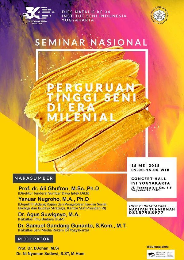Poster Seminar Nasional Hebat Poster Lps isi Jogja Institut Seni Indonesia Yogyakarta