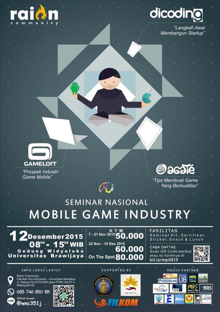 Poster Seminar Nasional Meletup Seminar Nasional Mobile Game Industry Htm 60k Dicoding