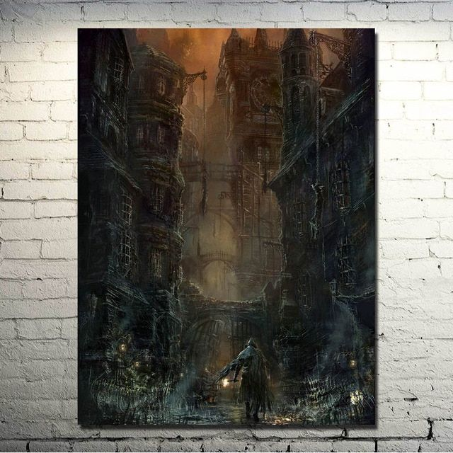 ditularkan melalui darah art kain sutra cetak poster 13x18 24x32 inch permainan gambar untuk ruang tamu