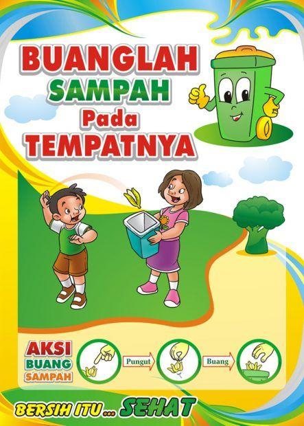 contoh gambar poster kebersihan kelas