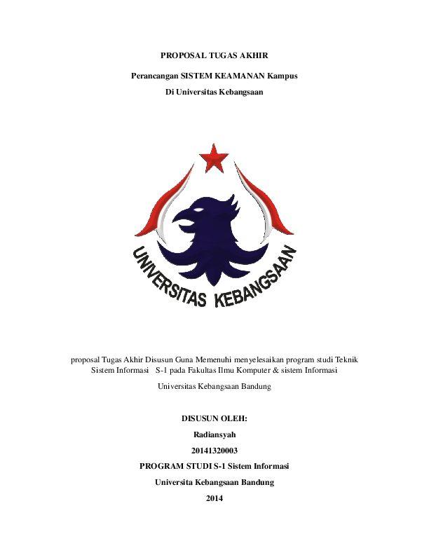 Poster Tugas Akhir Penting Pdf Proposal Tugas Akhir Sistem Keamanan Kampus Di Universitas