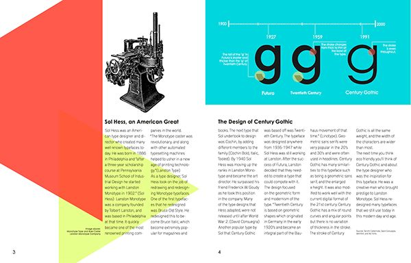 Poster Typography Berguna Century Gothic Type Specimen Poster and Spreads On Student Show