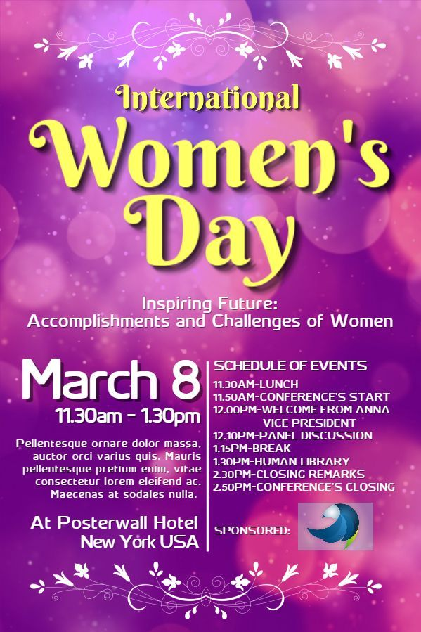 international women s day poster design click to customize