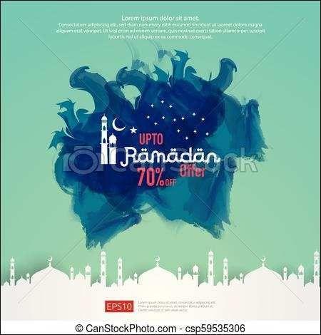 Ramadan Poster Baik Banner Ramadhan Vector Terbaru Ramadan Kareem Sale Offer Banner