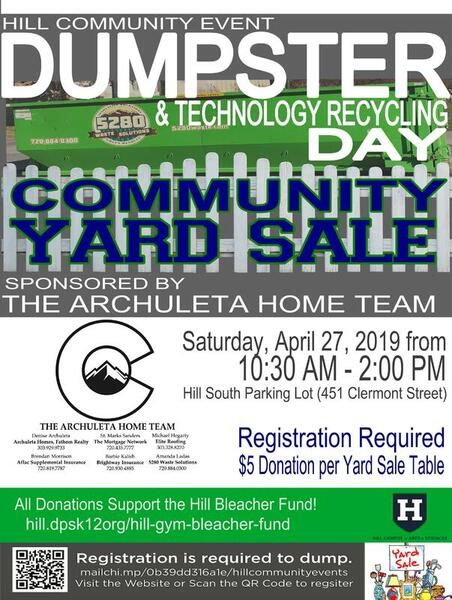 Recycle Poster Baik Apr 27 A Dumpster Day Technology Recycling Community Garage Sale