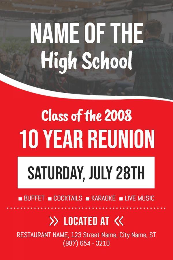 high school reunion event poster design template school reunion