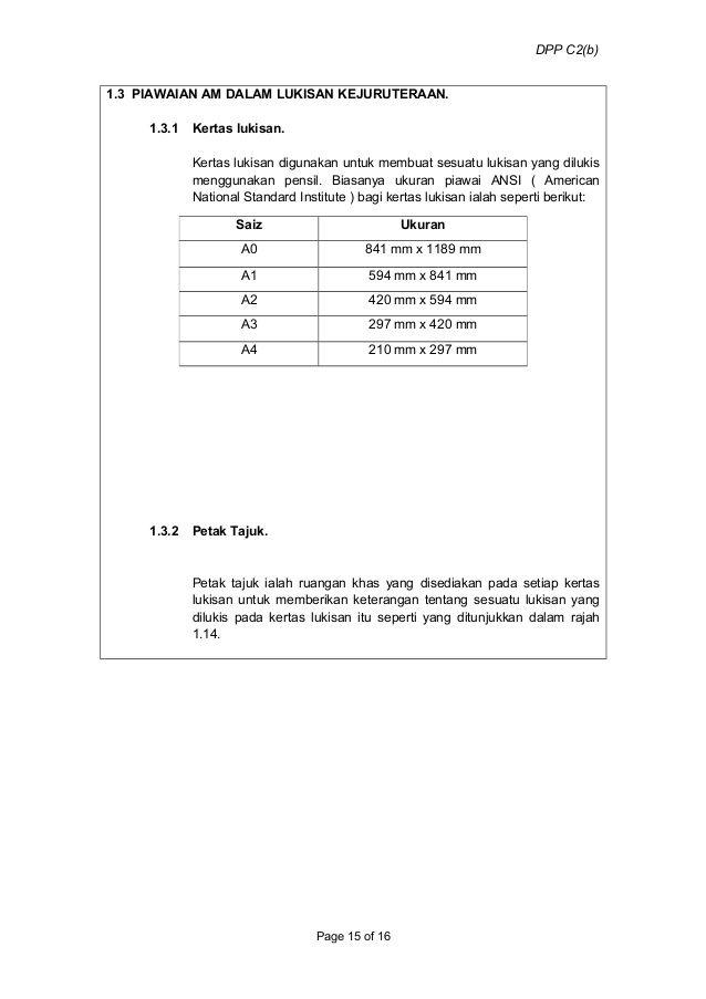 Saiz Piawai Kertas Lukisan Baik 1 0 Intro to Engineering Drawing