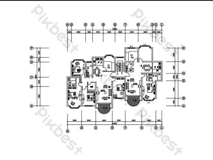 satu tangga dua pelan lantai rumah pelan cad cad hiasan dan model templat dwg