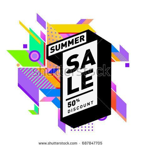 poster or banner lovely images summer sale memphis style web banner fashion and travel discount of