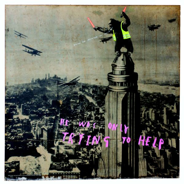 Save Water Poster Penting Lazinc Contemporary Art Gallery Banksy Specialists