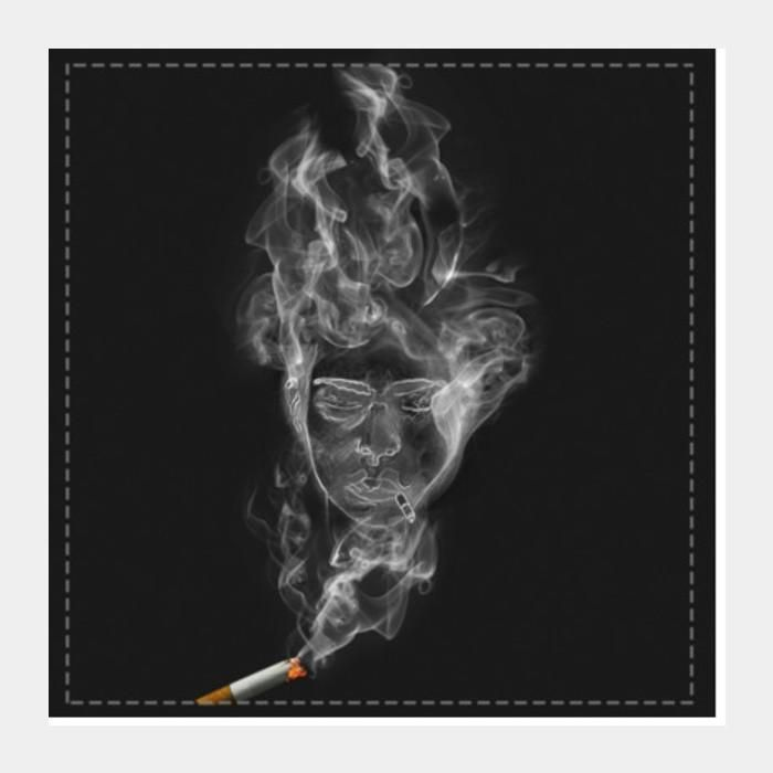 the cigarette is smoking you square art prints artist kapil verma postergully