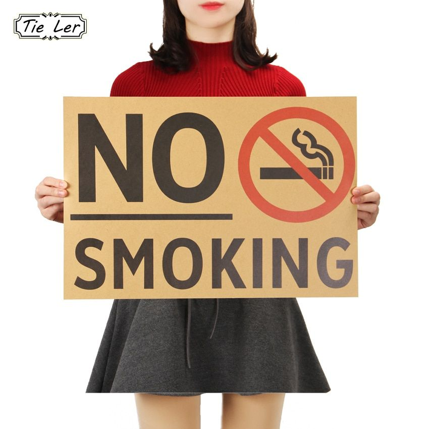 tie ler vintage poster promotion no smoking commonweal poster stickers as follows wall sticker posters