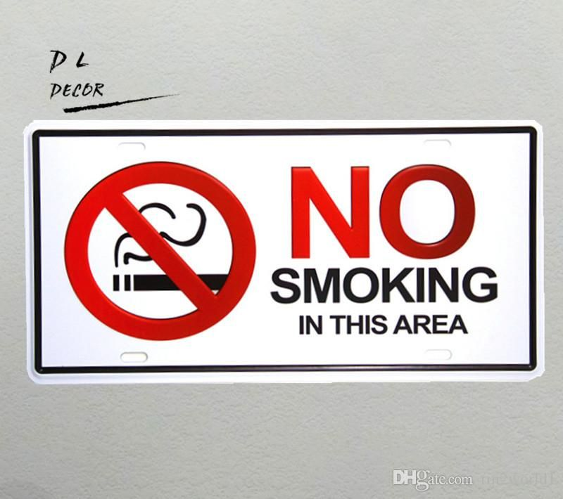 dl no smoking vintage license plate crafts home decoration accessories poster printing