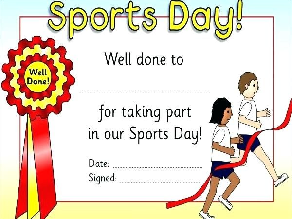 Sports Day Poster Hebat Football Participation Award Template Certificates Templates soccer