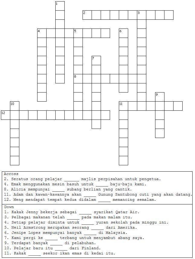 sekolah menengah yang teka silang kata bahasa melayu dan jawapan terhebat contoh teka teki makanan jawapan penuh yang berguna download image