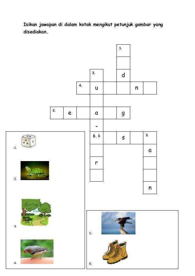 pelbagai teka silang kata bahasa melayu berserta jawapan yang sangat penting untuk para murid lihat
