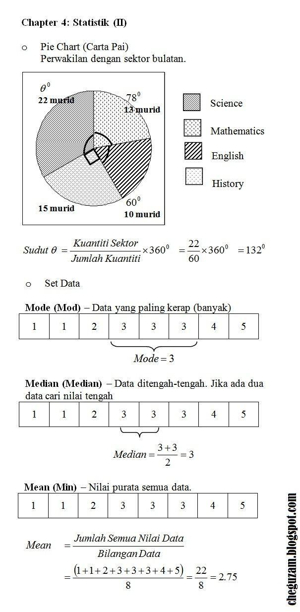 nota matematik tingkatan 3 bab 4 statistik statistic ii