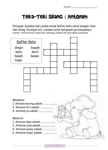Teka Silang Kata Simpulan Bahasa Bernilai Contoh Teka Silang Kata Peribahasa Bahasa Melayu Yang Sangat Hebat