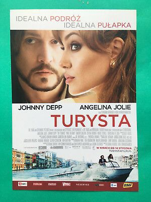 a polish promo cinema flyer the tourist johnny depp angelina jolie turysta poster