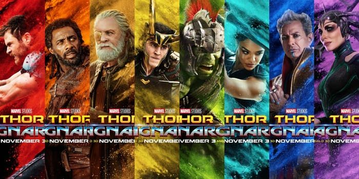 bold new thor ragnarok posters show characters true colors