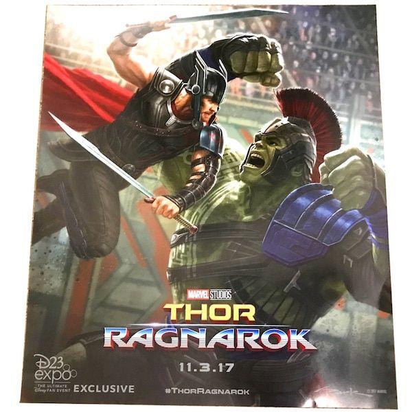 Thor Ragnarok Poster Power Used D23 Expo 2017 Exclusive Disney Marvel Thor Ragnarok Poster Thor