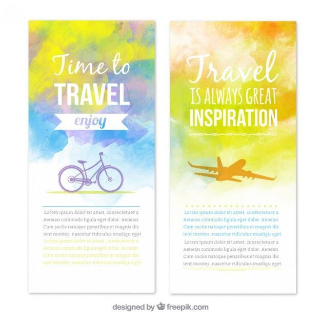 banners ink new pictures travel banners in watercolor style free vector of banners ink pretty photos