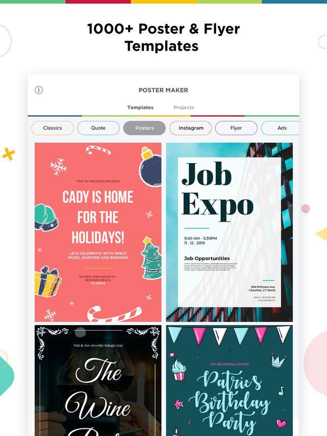 Typography Poster Berguna Poster Maker Flyer Designer On the App Store