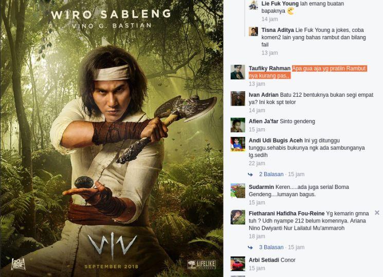 Wiro Sableng Poster Bernilai Poster Karakter Film Wiro Sableng Rilis Begini Reaksi Netizen