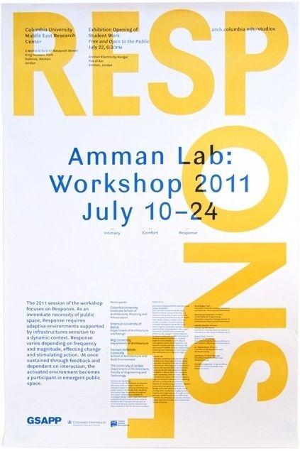 rumors studio x amman workshop 2011 poster print design graphic yellow