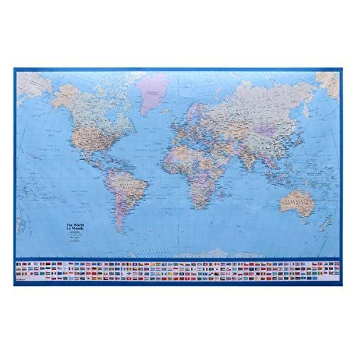 World Map Poster Power Decorative World Map Poster