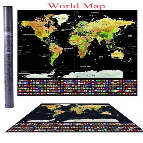World Map Poster Power Vova Ahet Travel Edition World Map Poster Scratch Off Personalized