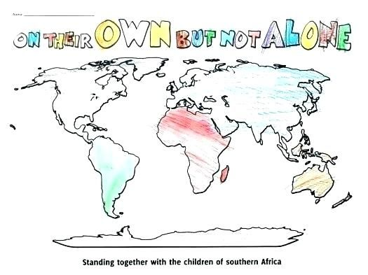 world map coloring page maps sheet printable for kindergarten free