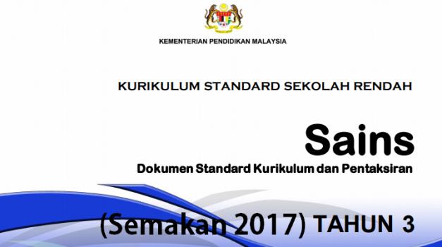 DSKP KSSR Sains Tahun 3 (Semakan 2017)